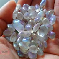 Neues Produkt natürlicher bunter getrommelter Quarzsteinengel Aura-Kristallkies für Hauptdekoration 100 g