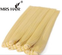 613# 100g pc Light Blonde Human Remy Hair Straight 1 Bundle ...