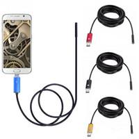 2MP Endoscopio 2M 7mm Obiettivo USB IP67 Impermeabile Telecamera di controllo 6LED Periscopio Serpente Video Cam per Android OTG UVC