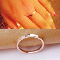 Classic Slim 2MM largo anello placcato in oro rosa 18k per amanti regalo delle donne