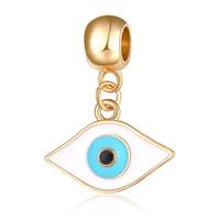 20 шт./лот мода позолоченные эмаль Турция глаза дизайн сплава металла DIY подвески fit Европейский BraceletNecklace низкая цена PED154