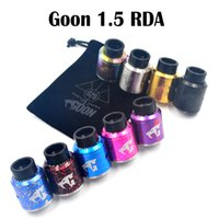 Goon 1.5 RDA Clone 528 Custom RDA Atomizers 24mm Diameter Cyclope Airflow Multi Couleurs Pour 510 Thread Atomizers Vape Mods Le plus récent