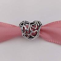 Mütter Tag Geschenk 925 Sterling Silber Perlen Mutterliche Liebe Passt europäisch Pandora Stil Schmuck Armbänder Halskette 791519 Mom Love