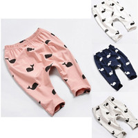 Lovely Baby Kids Girls Boys Clothing Whale Printing 100% Cot...