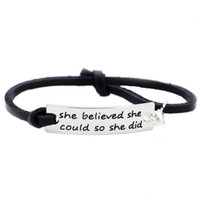 She Believed She Could So She Did Adjustable Leather Inspira...