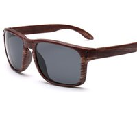 تقليد الخيزران النظارات الشمسية الرجال / النساء العلامة التجارية مصمم 2017 ساحة ذكر الخشب النظارات الإناث النظارات oculos masculino uv400 Y17