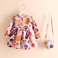 Girls Dresses With Purses Trendy Perfume Bottle Printing Ruf...