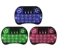 Rii I8 2.4 جيجا هرتز chargable ماوس لاسلكية لوحات المفاتيح الخلفية متعددة الألوان الخلفية للتحكم عن S905X S912 التلفزيون الروبوت مربع T95 X96