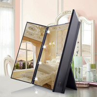 Folding Portable Travel Make Up Dressing Desktop lamp Mirror...