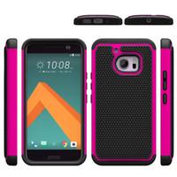À prova de choque Heavy Duty rígido Case Voltar telefone robusto TPU + PC Football caso padrão para HTC M7 M8 M9 M10 HTC530 / 630 HTC626
