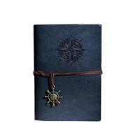 Classique Rétro classique en cuir Notebooks pages blanches et revues cuivre plaqué mer Pirate Anchor Papier Voyage Sketchbook