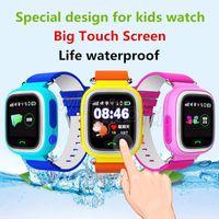Gps الاطفال الساعات الذكية الطفل ووتش Q90 للأطفال تعقب للطفل شاشة اللمس wifi مكافحة خسر تذكير sos استدعاء pk Q80 Q60 Q50 رخيصة 30 قطعة