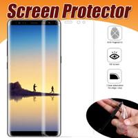 3D Kavisli Tam Kapak Yumuşak TPU Ekran Koruyucu Güvenlik Film Samsung Galaxy S10 Lite S9 S8 Artı S7 Not 9 A6 A8 A9 iPhone XS Max XR X 8 7 6