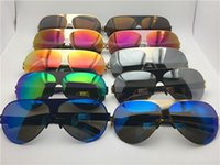 Nuevos gafas de sol para hombre para hombre Franz Piloto Marco con espejo Ultralight Marco de memoria Gafas de sol de gran tamaño para las mujeres de diseño al aire libre fresco