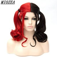 Hair Harleen Quinzel Harley Quinn Cosplay Wig 45cm Short Red...