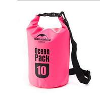 Asılı kanca ve kayış ile açık Su Geçirmez Kuru Çanta PVC Tente kuru çanta sırt çantası 10 L seyahat sürüklenen çanta