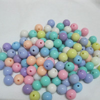 Venta al por mayor Beads sueltas Pick Tamaño 6 8 10 mm Mixto claro Gumball Bubblegum Bubblegum Acrílicos para la joyería de bricolaje Hacer pulsera Neklace Redondo Bead