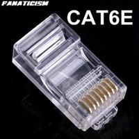 5000pcs / lot Qualitäts-8P8C RJ45 RJ45 CAT6 Cat6e Modular-Stecker-Netzwerkanschluss-Ethernet-LAN-Kabel Modularstecker