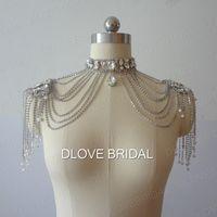 Echtes Foto Luxus Kristall Strass Quaste Schal Jacke Silber Braut Wraps Bolero Brautkleid Dekoration Schmuck Zubehör mit Perlen