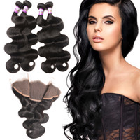 13x4 Pre Plucked Lace Frontal Closure Mongolian Body Wave Fr...