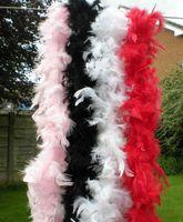 Feather Boa 200cm Burlesque Showgirl Hen Night Fancy Dress Party Dance Costume Accesorio Boda DIY Decoración 17 Color