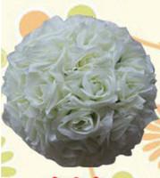 Wedding Flower Ball ornamenti in seta baciare la palla decorata artificiale per mercoledì decorazione del mercato bouquet appeso decorazione del partito decorativo rosa