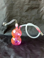 Color gourd hookah glass bongs accessories , Water Pipes Gla...