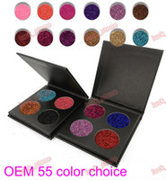 OEM ODM 4 color sparkle eyeshadow palette black case GOLD ca...