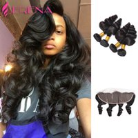 7A Brazilian Virgin Hair Loose Wave With Frontal Closure 4 b...