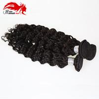 Ханна необработанные глубокие вьющиеся волосы девственницы 3 пучки афро вьющиеся человеческие волосы 100% бразильские глубокие вьющиеся волосы ткет