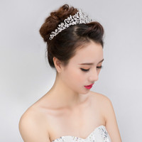 Las mujeres se casaron Tiara Crown Diadema Crystal Diamond Hair Jewelry  Novia Corona de la boda fdfa1385047f