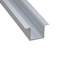 10 X 1M комплекты / серия Т-образный профиль привели полосу алюминий и большой светодиодный алюминиевый профиль для потолка или стены встраиваемых освещения