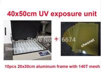 سريع شحن مجاني منتصف شاشة الطباعة لوحة فراغ آلة التعرض uv + 10 قطع 20x30 سنتيمتر الألومنيوم الإطار مع شبكة 140 طن