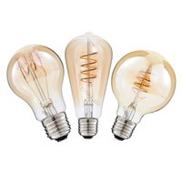 Dimmable 2200K AC110- 220V ST64 G25 A19 Spiral Lamp Vintage F...