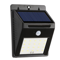 20 LED Solar Powered Light 2835 SMD 400Lm Waterproof IP55 Di...