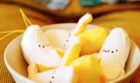 10 PCS Mini 6CM Nova Banana Plush Bichon De Pelúcia; Corrente chave pequena do CHAVE do SACO do pendente da correia do telefone BONECA de BRINQUEDO; Buquê de Weddng TOY DOLL