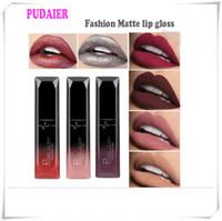 Pudaier Mat Ruj 21 Renkler Dudak Parlatıcısı Dudaklar Makyaj Kadınlar için Su Geçirmez Güzel Kozmetik