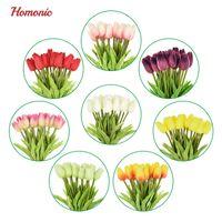 20pcs / lot tulipe fleur artificielle PU latex artificiel bouquet réel toucher fleurs pour maison de mariage de mariage fleurs décoratives couronnes p35