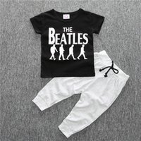 New Toddler Kid Baby Boys Clothes 2 pcs Short- sleeved T- shir...