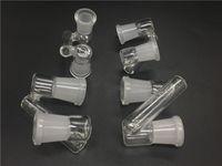 Adattatore di vetro Wholsale 18mm 14mm Femmina a femmina Goccia giù adattatore di vetro Adattatore filtro olio giunto da 18mm a 18mm per Bong di acqua di vetro