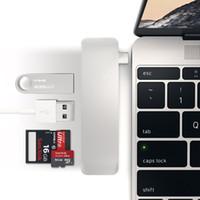 20 جهاز كمبيوتر شخصى / الكثير 5 في 1 Combo Type C Hub USB 3.0 Slot-in TF قارئ بطاقة SD مع منفذ شحن لماك بوك