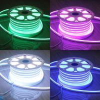 50m (164 ') SPOOL 220V Néon Tube Soft Résistance UV Mini 11x18mm Rope imperméable RGB LED FLEX Neon Signes Éclairage extérieur intérieur