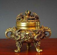 Braceur d'encens des dragons chinois chinois