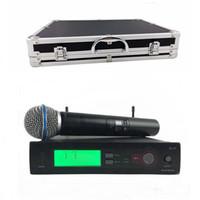 Qualidade superior SLX SLX24 BETA58 com caixa de alumínio caso !! Sistema de Microfone Sem Fio UHF Microfone de Microfone Portátil Super Cardióide BETA