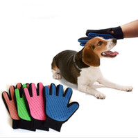 True Touch Dog Cleaning Gloves Silicone Deshedding Glove Pet...