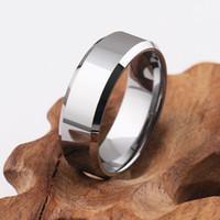 Cool Man Tungsten Verlobungsringe Hoch Polier Männer Solide Silber Hartmetallring Wedding Band Ring Schmuck MR40