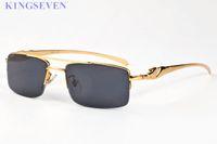Hip Hop 2020 moda atitude óculos de sol para mulheres dos homens chifre de búfalo óculos Lady Flat Top Oversized óculos Lunettes Óculos de sol