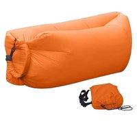 fast inflatable lazy bag lay sleeping bag camping air sofa sleeping beach bed banana lounge bag laybag air hammock