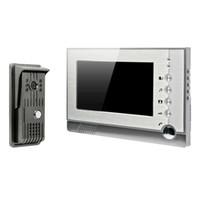7-дюймовый записываемый видео домофон телефон двери с фото съемки видео записи DVR SD карты поддержка TFT-LCD DB182