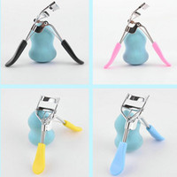 Hot high quality stainless false eyelash curler colorful pla...